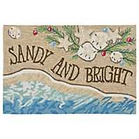 Sandy and Bright Indoor/Outdoor Large Accent Rug
