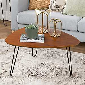 Walnut Wood Hairpin Leg Coffee Table