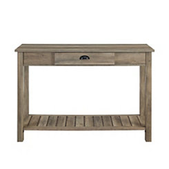 Country Style Graywashed Console Table