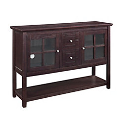 Espresso Wood Buffet Media Console