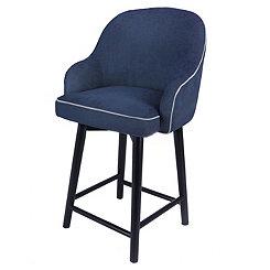 Swivel Blue Denim with Black Legs Counter Stool