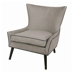 Gray Denim with Black Legs Accent Chair