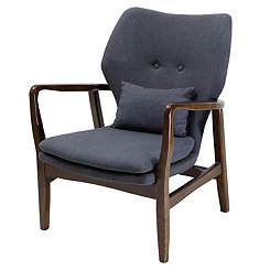 Gina Tufted Gray Accent Chair