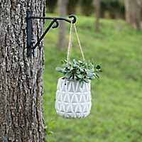 Diamond Cement Hanging Planter
