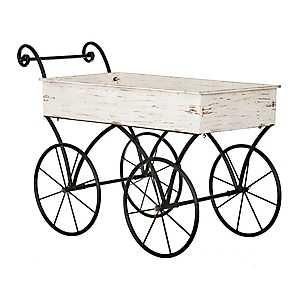 Cream Decorative Wagon