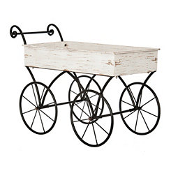 Cream Decorative Wagon