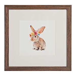 Trendy Meadow Bunny Framed Art Print