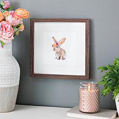 Trendy Meadow Bunny Framed Art Print
