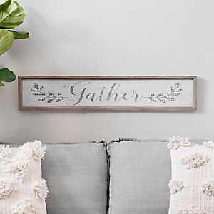 Gather Plaid Panel Framed Art Print
