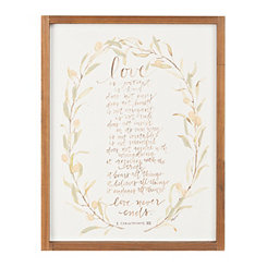 Love Never Ends Framed Art Print
