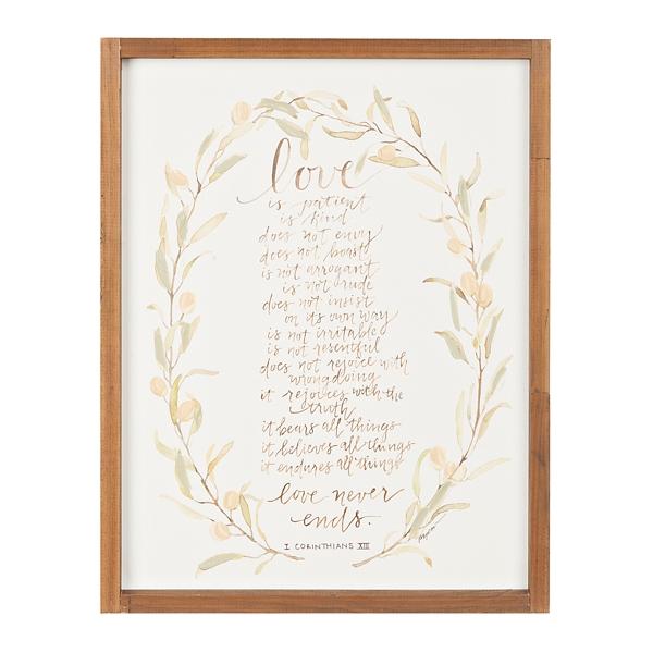 Love Never Ends Framed Art Print