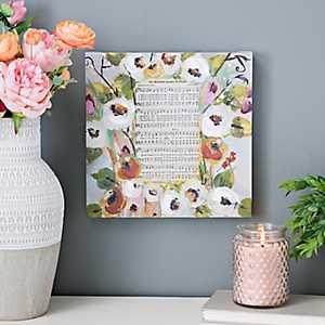 Garden of Prayer Floral Music Canvas Art Print