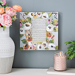 Garden of Prayer Floral Music Canvas Art Print