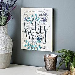 Holy Floral Music Canvas Art Print