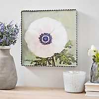 Anemone Floral Framed Wood Plaque