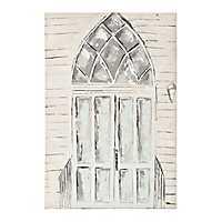 Going to the Chapel Church Door Canvas Art Print