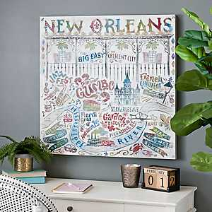 New Orleans Phrases Canvas Art Print