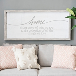 Definition of Home Wall Plaque