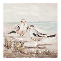 Sandpiper Couple Canvas Art Print