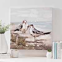 Sandpiper Couple Canvas Art Print