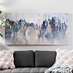 Turquoise Gold Abstract Canvas Art Print