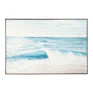 Blue Sea in Motion Framed Canvas Art Print