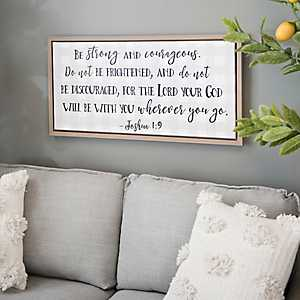 Be Strong and Courageous Framed Canvas Art Print