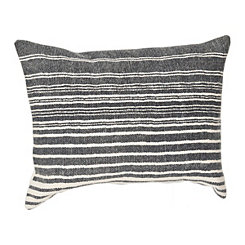 Charcoal Graduated Stripe Accent Pillow