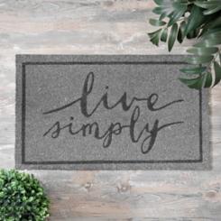 Gray Live Simply Doormat