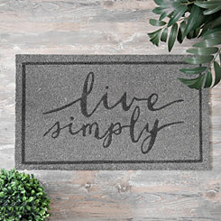 Gray Live Simply Doormat
