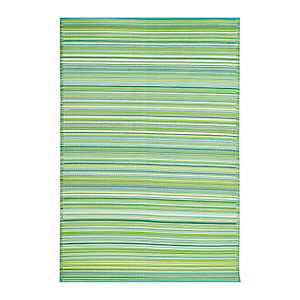 Havana Blue Striped Outdoor Rug