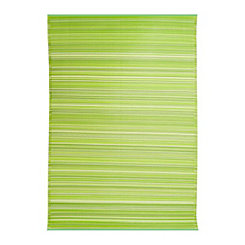 Havana Green Striped Outdoor Rug