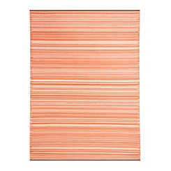 Havana Red Striped Outdoor Rug