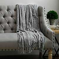 Silver Chenille Throw