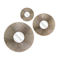 Piper Round Gold Mirrors, Set of 3
