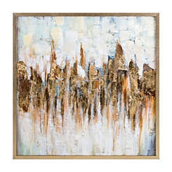 Katsu Abstract Oil Painted Framed Canvas Art Print