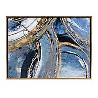 Ruka Abstract Oil Painted Framed Canvas Art Print