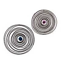 Evie Spiral Round Wall Plaques, Set of 2
