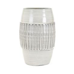 Hadley Large White Ceramic Vase