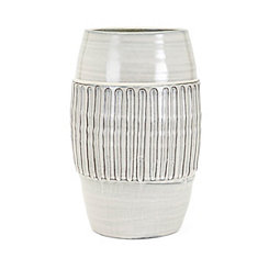 Hadley Large White Ceramic Vase