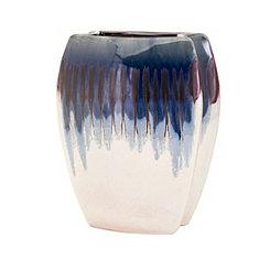 Large Hamako Blue Drip Glaze Ceramic Vase