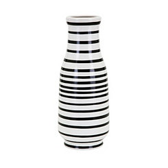 Black and White Stripe Parisa Vase