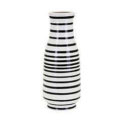 Black and White Stripe Parisa Vase