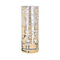Damari Graphic Gold Glass Vase