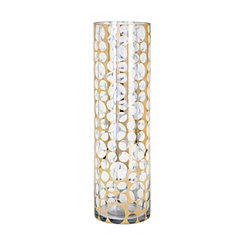 Xandra Graphic Dot Gold Glass Vase