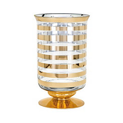 Gold Stripe Natalie Vase, 12 in.