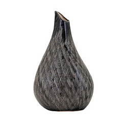 Rylee Black Etched Vase