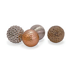 Metallic Finished Orbs, Set of 4