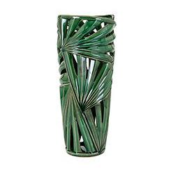 Palmetto Ceramic Vase, 21 in.