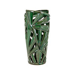Palmetto Ceramic Vase, 15 in.